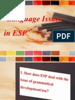 Language Issues in ESP