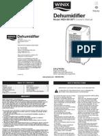 Winix Wdh851 Dehumidifier Owners Manual