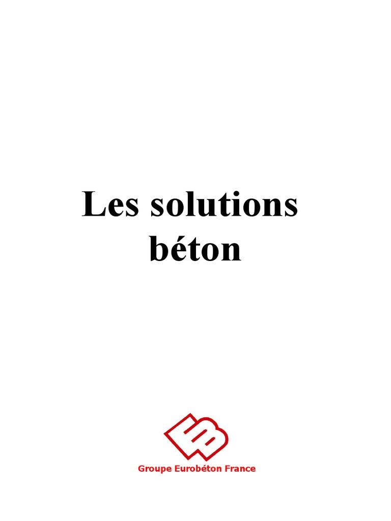 Solutions Béton Doc Generale Eurobeton Pdf Mortier
