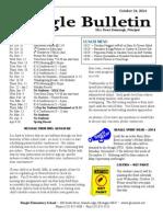 Beagle Elementary School Newsletter Oct 24 2014