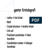 Pengantar Kristalografi