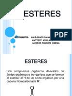 Exposicion Quimica Organica (Esteres) (1).pptx