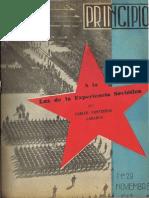 PRINCIPIOS N°29 - NOVIEMBRE DE 1943 - PARTIDO COMUNISTA DE CHILE