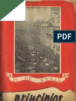 PRINCIPIOS N°34 - ABRIL DE 1944 - PARTIDO COMUNISTA DE CHILE