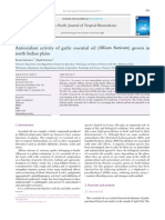 Antioxidant activity of garlic essential oil (Allium Sativum) grown in.pdf