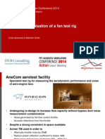 Acoustic Optimisation of a Fan Test Rig