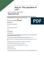 Lay Analysis by Sigmund Freud