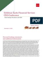 WellsFargo at Goldman Sachs Conference 12.8.09