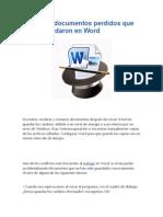 recuperar documentos perdidos que no se guardaron en Word.docx