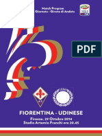 Match Program Fiorentina-Udinese