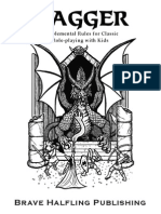 Dagger (Free Version) Supplemental Rules for Classic Role-playing With Kids