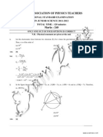 NSEJS Solved Paper 2011