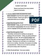 fluency 5 day plan