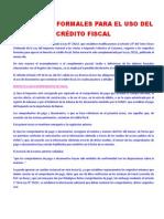 REQUISITOS FORMALES PARA EL USO DEL CRÉDITO FISCAL.docx