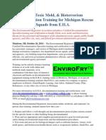 Ebola, Toxic Mold, & Bioterrorism Decontamination Training for Michigan Rescue Squads from E.H.A.