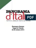 Panorama d'Italia a Viterbo, la rassegna stampa