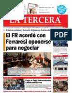 DIARIO LA TERCERA 27 10 2014