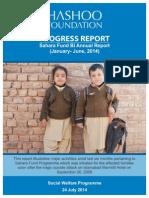Sahara Fund Progress Report Jan-June 2014