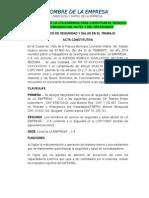 ACTA CONSTITUTIVA DEL SERVICIO DE SEGURIDAD Y SALUD MODELO.doc