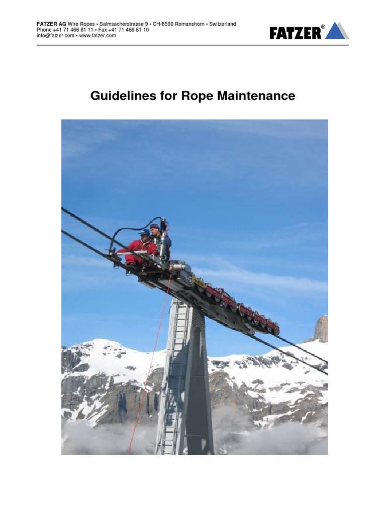 wire Rope Maintenance En   Rope   Wire