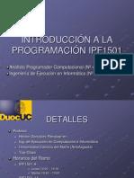 114988INTRODUCCIÓN A LA PROGRAMACIÓN IPF1501.ppt