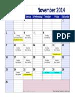 ef2 calendar nov14