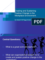 creating and sustaining positive change in the workplace 2