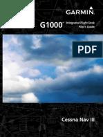 garmin g1000 06 01 2011 automation electronics rh es scribd com g1000 pilot guide handbook g1000 pilot's guide da42