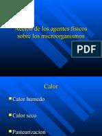 Acción de los agentes físicos sobre los microorganismos