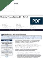 Marketing Personalization June 2014