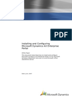 Install and Configure a Microsoft Dynamics AX Enterprise Portal server.doc