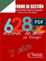 Informe de Gestion Revista Personería 2014