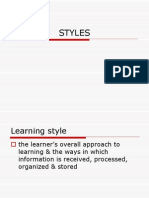 Language Learning Styles and Strats