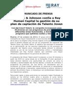 Nota de Prensa Ray Human Capital - Programa Smart Talent Johnson & Johnson.doc