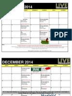 2014 November/December Show & Commentator Schedule