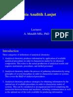Kimia Analitik Lanjut