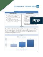 linkedin results - summer 2014