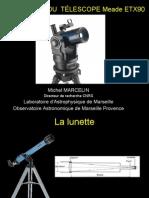 Principes de fonctionnement des télescopes