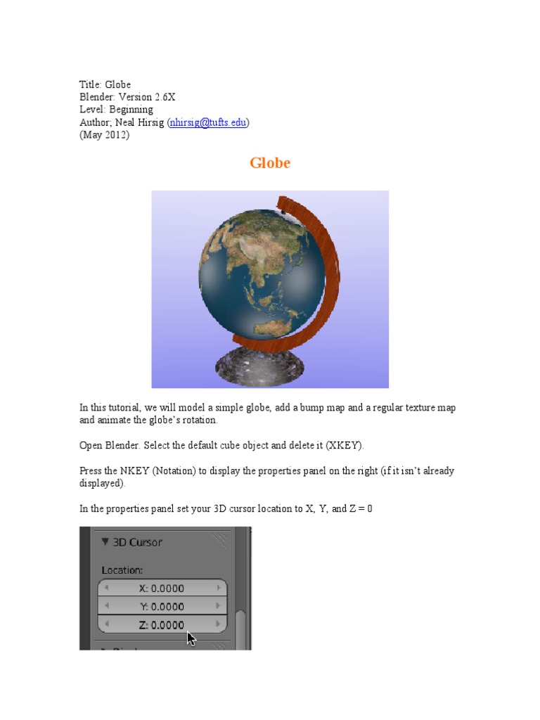 3d Globe Map Bump Map.Globe Pdf Rendering Computer Graphics Texture Mapping