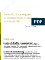 Network Monitoring and Measurement
