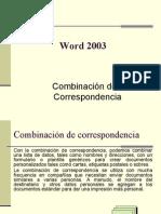 Combinacion de Correspondencia Word 2003