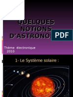 Quelques notions d'astronomie