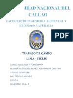 Trabajo de Campo Lima - Ticlio. Alessandra Quijandria Perez