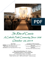 St. Rita Parish Bulletin 10/26/2014