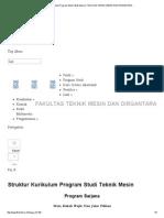 Struktur Kurikulum Program Studi Teknik Mesin _ Fakultas Teknik Mesin Dan Dirgantara