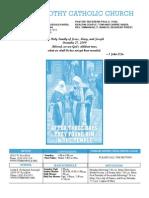 St. Timothy Parish Bulletin December 27, 2009