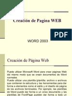 Creacion de Paginas Web en Word