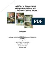 Study on the Effect of Biogas With Focus on Gender Issues Bangladesh 2010