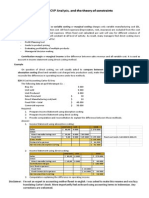 Cost - Direct Costing, CVP Analysis