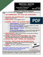 Construction Equipment Rentals